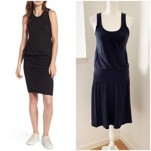 James Perse Brushed Jersey Tank Dress in Blue
